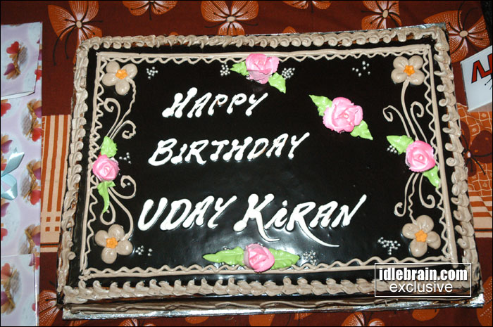 Birthday Cake Images With Name Kiran : Uday Kiran birthday 2007 photo gallery - Telugu cinema actor